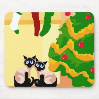 Siamesisches Weihnachten Mousepad