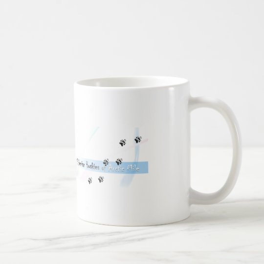 Siberian Husky Puppie with lights Kaffeetasse