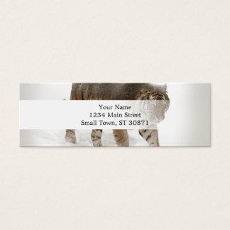 Sibirische Tiger-Tiger-doppelte Belichtungwild Mini Visitenkarte