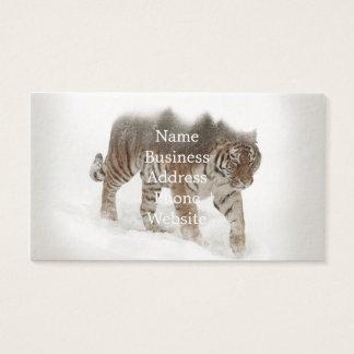 Sibirische Tiger-Tiger-doppelte Belichtungwild Visitenkarte