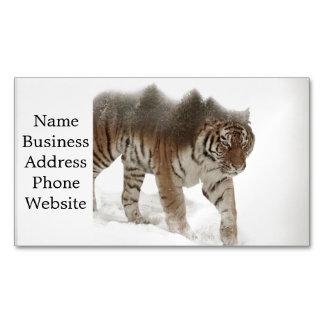 Sibirische Tiger-Tiger-doppelte Belichtungwild Visitenkartenmagnet