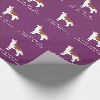 Sibirischer Husky - Rot - denkend an Sie Entwurf Geschenkpapier