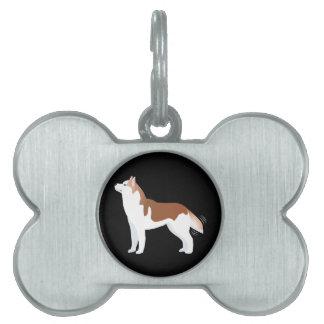 Sibirischer Husky - Rot - Zucht-Schablonen-Entwurf Tiermarke