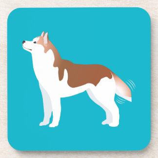 Sibirischer Husky - Rot - Zucht-Schablonen-Entwurf Untersetzer