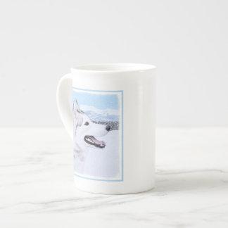 Sibirischer Husky (Silber und Weiß) Porzellantasse