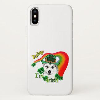 Sibirischer Husky St Patrick iPhone X Hülle