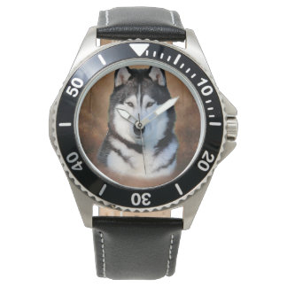 Sibirischer Husky Uhr