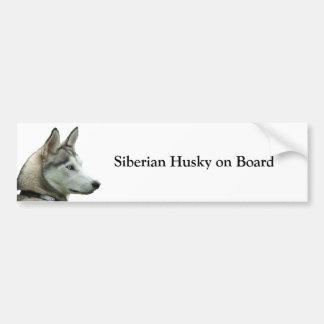Sibirischer Schlittenhund an Bord des Autoaufkleber