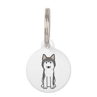 Sibirischer Schlittenhund-HundeCartoon Haustiermarke