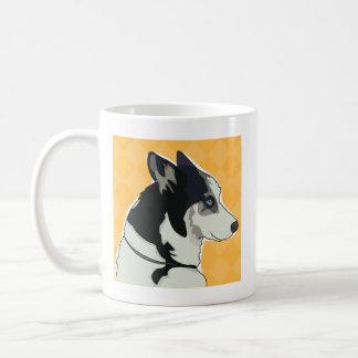 Sibirischer Schlittenhund-Kaffee-Tasse - Weg-Zeit Kaffeetasse