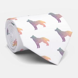 Sibirischer Schlittenhund-Schwarz-geometrische Krawatten
