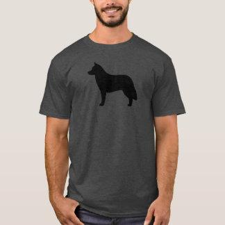 Sibirischer Schlittenhund-Silhouette T-Shirt