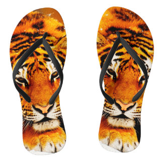 Sibirischer Tiger Flip Flops