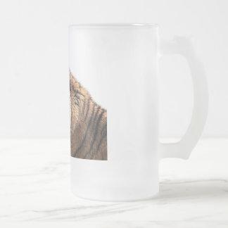 Sibirischer Tiger-mattiertes Bier-Glas Mattglas Bierglas
