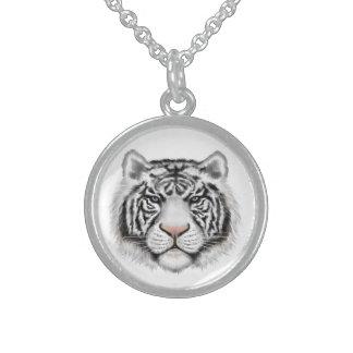 Sibirischer weißer Tiger Sterling Silberkette
