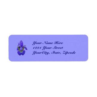 Sibirisches blaues Iris-Adressen-Etikett