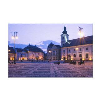 Sibiu bis zum Nacht Leinwanddrucke