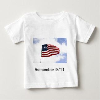 Sich erinnern Sie an 9/11 - Flug 93 Baby T-shirt