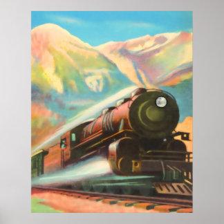 Sich fortbewegender Zug-Motor Poster