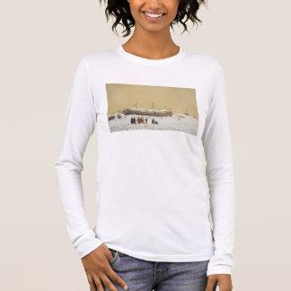 Sich hin- und herbewegende Batterie La Tonnante im Langarm T-Shirt