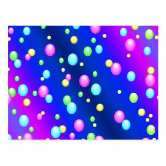 Sich hin- und herbewegende Blasen Postkarte