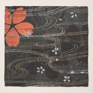 Sich hin- und herbewegende Hibiskus-Blumenblätter Schal