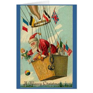 Sich hin- und herbewegende Vintage Sankt Karte