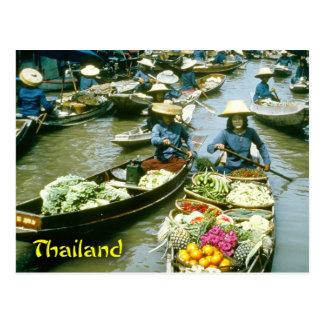 Sich hin- und herbewegender Markt Thailands Postkarten