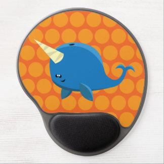 Sich hin- und herbewegendes Narwhal - Gel Mousepad