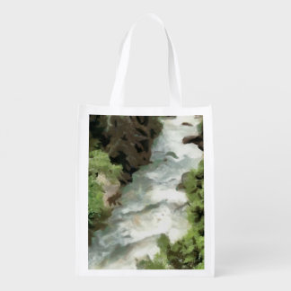 Sich schnell bewegender Fluss Wiederverwendbare Einkaufstasche
