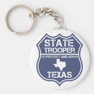 Sich zu schützen und zu dienen Texas-StaatTrooper Schlüsselanhänger