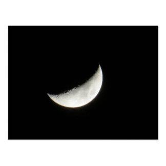 Sichelförmiger einwachsender Mond Postkarte