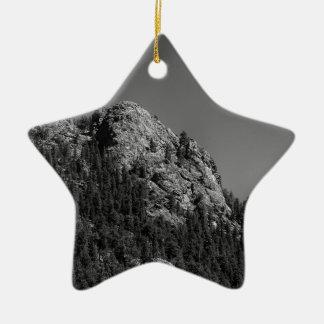 Sichelförmiger Mond-und Büffel-Felsen Keramik Ornament