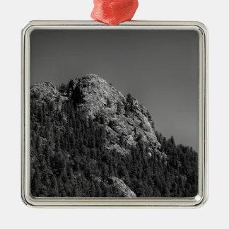 Sichelförmiger Mond-und Büffel-Felsen Silbernes Ornament
