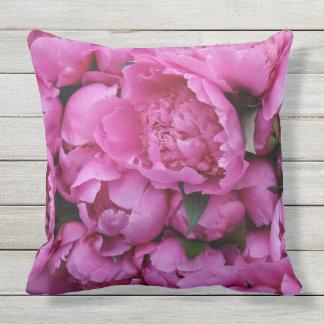 Sichere rosa Pfingstrosen-Blumen-im Freien Kissen