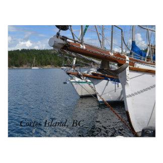 Sicherer Hafen, Cortes-Insel BC Postkarte