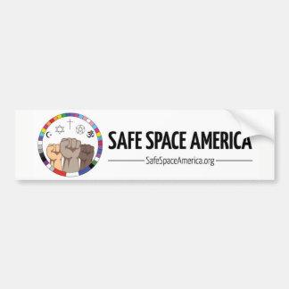 Sicherer Raum-Amerika-Autoaufkleber Autoaufkleber