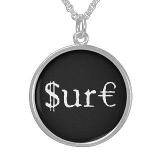 Sicheres Falschgeld Sterling Silberkette