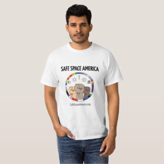 Sicheres Raum-Amerika-Logo-Shirt T-Shirt