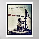 Sicheres Wasser auf dem Bauernhof Posterdrucke