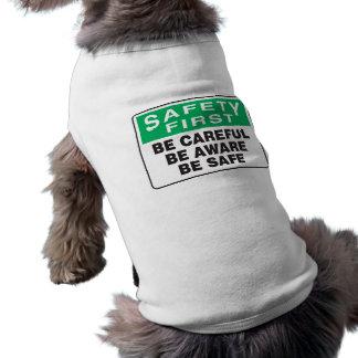 Sicherheit erste, ist bewusst ärmelfreies Hunde-Shirt