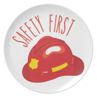Sicherheit erste melaminteller