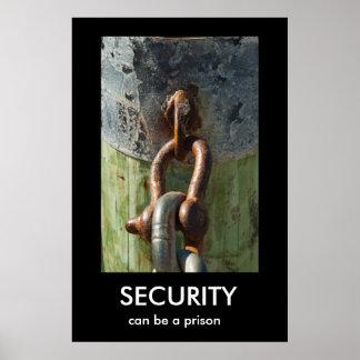 SICHERHEIT, kann ein Gefängnis Demotivational Plak Plakatdrucke