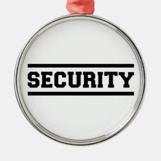 Sicherheit Rundes Silberfarbenes Ornament