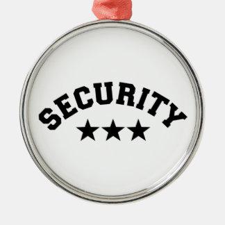 Sicherheit Silbernes Ornament
