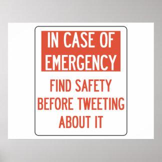 Sicherheit vor tweetendem Plakat