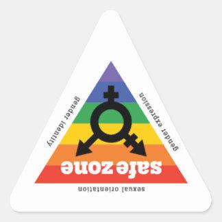 Sicherheits-Aufkleber - LGBTQ Dreieckiger Aufkleber