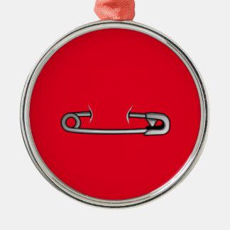 Sicherheits-Button 1 Silbernes Ornament