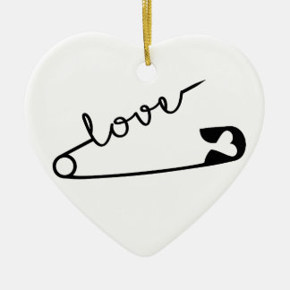 Sicherheits-Button LIEBE Keramik Ornament