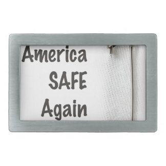 Sicherheits-Button Rechteckige Gürtelschnalle